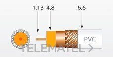 TELEVES 215501 Cable coaxial T100 CU/CU polietileno clase A 100m negro