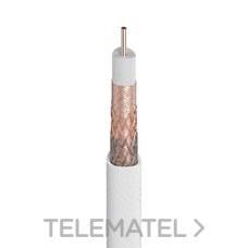 Cable coaxial T100 PLUS blanco con referencia 2141 de la marca TELEVES.