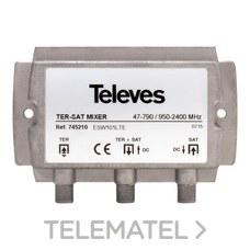 TELEVES 745210 Mezclador Matv-FI 2e/1s-F DC