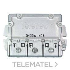 TELEVES 543702 Repartidor 4 direcciones ICT-CC