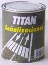 Pintura de resina acrílica TITAN para señalización amarillo semi-mate 4l con referencia 02A320104 de la marca TITANLUX.