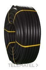 TUPERSA 080500025 Tubo flexible de PVC corrugado forrado diámetro 25 negro