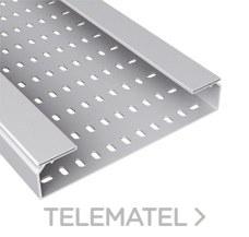 Bandeja 66 perforada PVC-M1 U23X 100x600 gris con referencia 66620 de la marca UNEX.