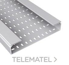 Bandeja 66 perforada PVC-M1 U23X 60x400 gris con referencia 66400 de la marca UNEX.
