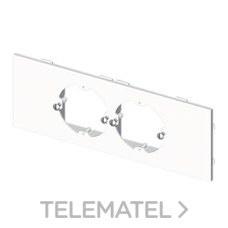 UNEX 73652-2 PLACA P/2 MEC.UNIV.U24X PVC BN