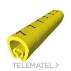 UNEX 1811-0 SENALIZACION PVC PLAST.2-5mm -0-amarillo