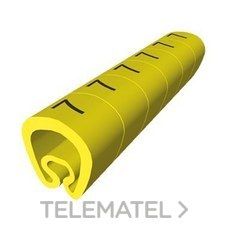 UNEX 1811-4 SENALIZACION PVC PLAST.2-5mm -4-amarillo