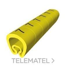 UNEX 1811-6 SENALIZACION PVC PLAST.2-5mm -6-amarillo