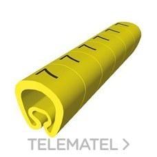 UNEX 1811-7 SENALIZACION PVC PLAST.2-5mm -7-amarillo