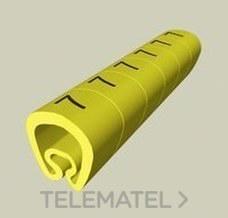 UNEX 1811 SENALIZ.PVC PLAST.2-5mm S/ESCRITURA AM.