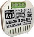 Aislador de doble polo multicarga 2000W máximo (En blister) con referencia A10 de la marca VARILAMP.