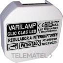 Regulador a interruptorled dimmables principal fase 100w máximo (En blister) con referencia CLIC CLAC 100 de la marca VARILAMP.