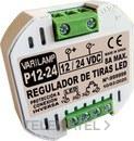 Regulador a pulsadores para tiras led de 12V a 24V DC 8A máximo (En blister) con referencia P12-24 de la marca VARILAMP.