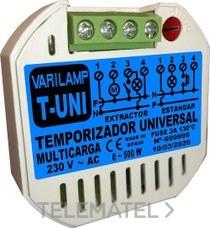 VARILAMP T-UNI Temporizador universal multicarga pulsadores 500W máximo (En blister)
