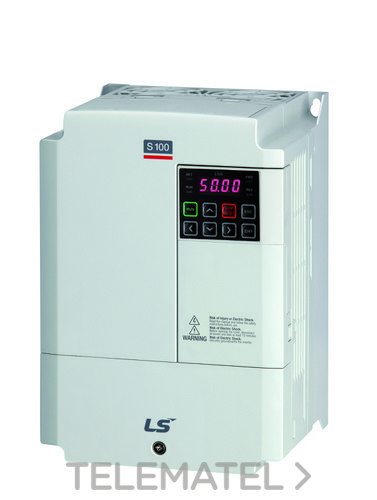 Convertidor de frecuencia LSLV0015S100-2EXNNS 2x230V 1,5kW S100-2 trifásico 200~230V IP66 con referencia 6030002000 de la marca VMC.