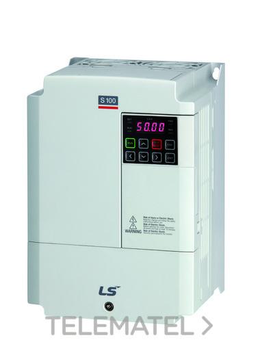 Convertidor de frecuencia LSLV0075S100-4EOFNS 3x400V 7,5kW S100-4 trifásico 380~480V con referencia 6031000800 de la marca VMC.