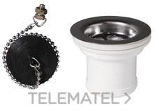 Válvula con tapón+cadena diámetro 40 para fregadero con referencia 30718456 de la marca WIRQUIN.